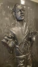 """LIFE FULL SIZE HAN SOLO IN CARBONITE """"THE THAW"""" PROP STATUE STAR WARS"""