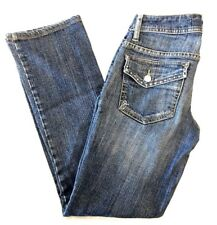 GUESS Women's Premium Embellished Beaded Jeans Flap Button Pockets Sz 24  28x28