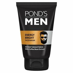 Pond's Men's Energy Bright Face Wash For Brightening Skin With Coffee Beans 100g