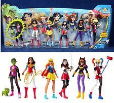 "6"" DC SUPER HERO GIRLS Action Collection BEAST BOY Katana HARLEY QUINN 6 Figures"