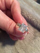 Cubic Zirconia Engagement Ring Sz. 6💎 💎Vintage 14kt White Gold 2.00ct Radiant