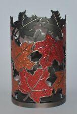 BATH & BODY WORKS GLITTER RED LEAVES METAL HAND SOAP SLEEVE HOLDER FOAMING DEEP