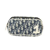 CHRISTIAN DIOR- Navy Oblique Cosmetic Bag