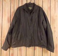 Eddie Bauer Jacket Fleece Lined Black Zip Front Men's Size XL