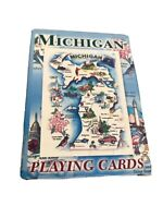 Michigan Souvenir Playing Cards with State & Points of Interest