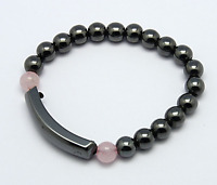 Magnetic Hematite Bracelet for Arthritic Pain & Blood Pressure(BJEW-Q026-2)