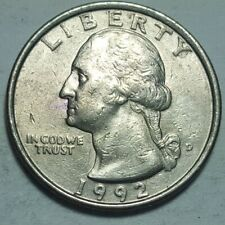 1992 D Washington Quarters Ddo Double Die Obverse Fs-101 Error Coin