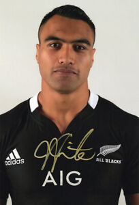 Victor Vito, New Zealand rugby, All Blacks, signed 12x8 inch photo. COA. Proof.