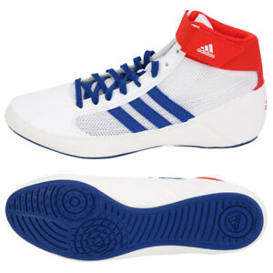 Adidas HVC Men's Boxing Shoes Training Wrestling White BD7129