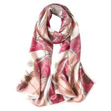 100% Silk Satin Women Scarf neckerchief Shawl large Wrap pink blue red S245-008