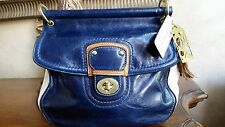 Coach 70th Anniversary Ltd Edition Willis Leather Navy Brown White Bag