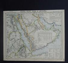 Antique Map, Lett's, 1883 S2#09 Arabia, Egypt, Nubia, & Abyssinia