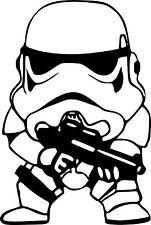 SW Star Wars Stormtrooper Cute Vinyl Car Decal Sticker 20cm x 13cm