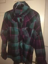 O'NEILL MENS XS GREEN/PURPLE CHECKED LONG SLEEVED SHIRT (EX COND)
