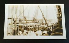 Navy 1934 U.S.S Frigate Constitution On Board For Decommissioning Photo Vintage