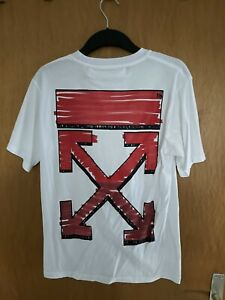 OFF WHITE OW Unisex Casual T-Shirt, Größe L (EU M)