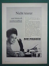7/1963 PUB AIR FRANCE AIRLINE CARAVELLE AIRLINER HOTESSE STEWARDESS GERMAN AD