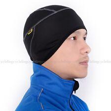 SANTIC Fleece Thermal Winter Cycling Beanie Bike Black Cap Sports Hat One Size