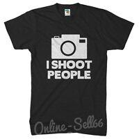 I Shoot People Photographer Funny Tshirt Photography T Shirt Camera Mens Womens