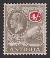 Antigua. SG 80, 4/- grey-black & red. Mounted mint.