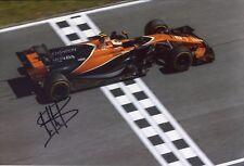 Stoffel Vandoorne SIGNED AUTOGRAPH McLaren AFTAL UACC RD