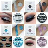 PHOERA Eyeshadow Single Pressed Pigment Shimmer Matte Pressed Glitter Makeup