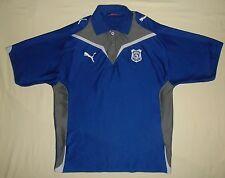 Cardiff City FC / 2009-2010 / PUMA - MENS blue button-down polo Shirt. Size: L