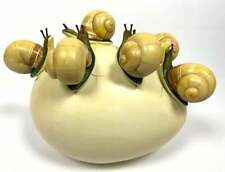 Rare Sergio Bustamante Modern Sculpture 6 Snails Crawling on Egg Mexican Surreal