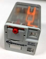 Relay, Magnecraft 750XCXM4L 24 VAC coil 3PDT with push test and pilot lamp