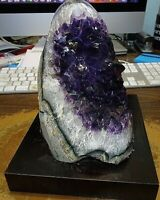 LARGE   AMETHYST CRYSTAL CLUSTER  GEODE FROM URUGUAY CATHEDRAL POLISHED;