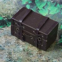1:12 Puppenhaus Miniatur Vintage Leder Holz Koffer_Mini!