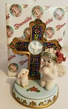 Dreamsicles Christmas Blessings # 11346 Cherub Angel cross lamb Figurine w/ box