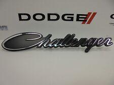 15-18 Dodge Challenger New Chrome Black Script Grille Emblem Nameplate Mopar Oem