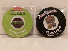 Loot Crate Lot of 2 Pins Ninja Turtles and Power Rangers Brand NEW