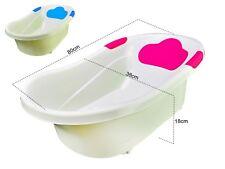 Baby Bath Tub, Infant Washing Newborn Toddler Bathtub Built-in Seat, Pink
