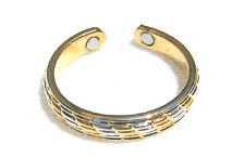 Magnetic Toe Ring - Silver & Gold Tone - Adjustable Mens Womens Gift MTR24