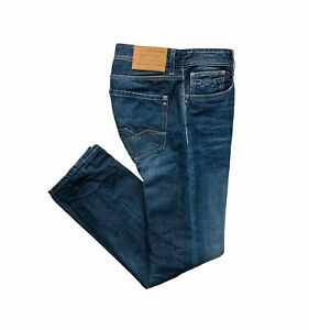 Replay Rob Straight Tapered Fit Jeans, Authentic Blue MA950 174 566 007