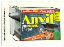 WACKY PACKAGES ALL-NEW SERIES 1--Clear Cling Insert #4: Anvil^