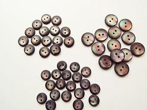 APPROX 100 DARK FAUX MOTHER OF PEARL BABY KNITWEAR BUTTONS 11 13 or 15mm