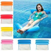 Swimming Bed Chair Foldable Inflatable Floating Water Hammock Float Pool Beach