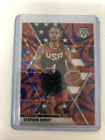 2019-2020 NBA Panini Mosaic Blue Reactive Prizm Stephen Curry USA