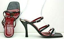 fd9bf74289372b Donald J Pliner Womens Sandal size 9.5 M Black Leather Lizard Strappy Heels  MO8