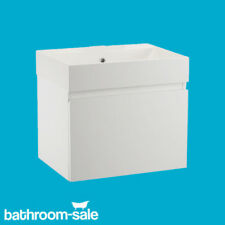 Mino 500 Gloss White Bathroom Wall Hung Basin Unit Complete | RRP: £399