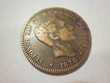 1878OM SPANISH COIN ALFONSO XII POR LA GRACIA DE DIOS 97 GRAMS DIEZ CENTIMOS