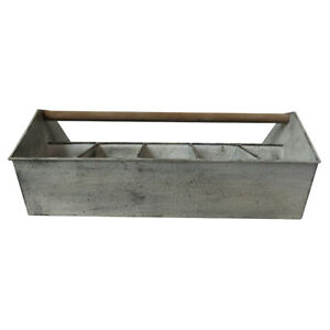 Large Tin Planter with Handle Suitable for Holding 10 Different Plants & Flowers