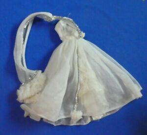 Vintage Barbie Doll Clothes - Superstar Era Barbie Doll Long White Gown