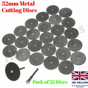 25 x Metal Cutting Discs 32mm Blades Grinding Wheel Rotary Dremel Model Hobby