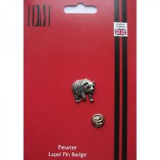 Silver Bear Pewter Lapel Pin Badge Handmade In England Bears Smart Badges New