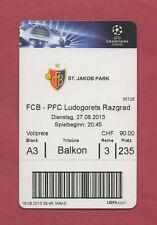 Orig.Ticket    Champions League  2013/14    FC BASEL - LUDOGORETS RAZGRAD  !!