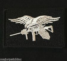 NAVY SEAL TEAM TRIDENT EAGLE MORALE US BLACK OP SWAT VELCRO® BRAND BADGE PATCH